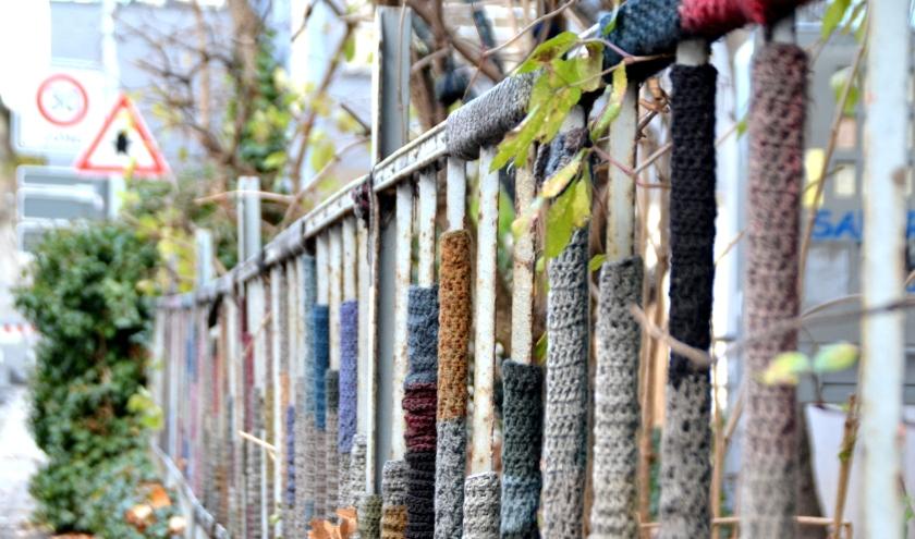 Urban-Knitting in Tübingen