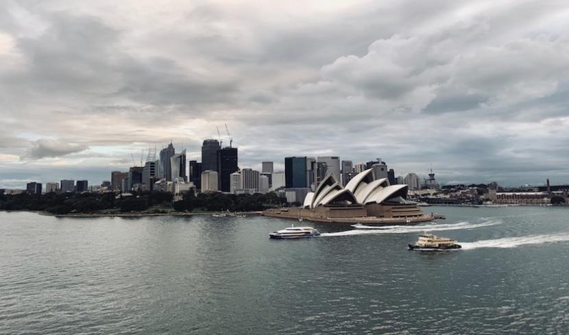 Der Hafen von Sydney.