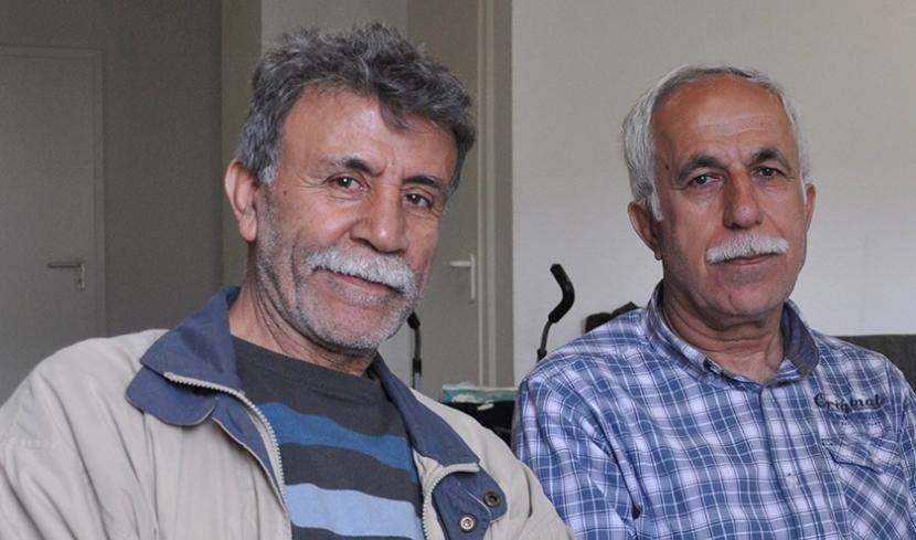 Ahmad Mahmond und Manan Jafar (von links) im Haus der Kulturen in Chemnitz