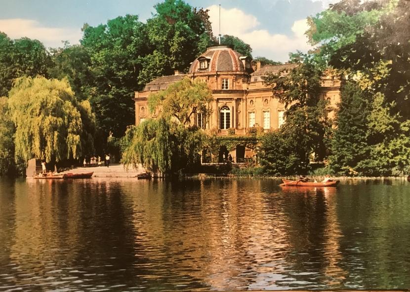 Postkarte mit dem Schloss als Motiv