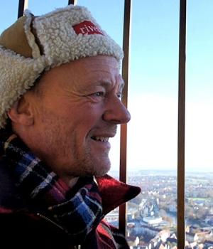 Boss auf dem höchsten Kirchturm der Welt